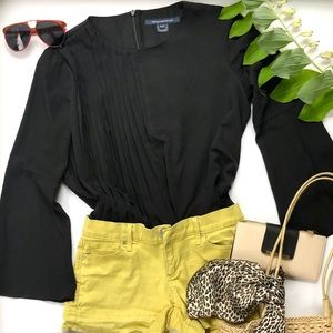 French Connection pleated top and Gap shorts set